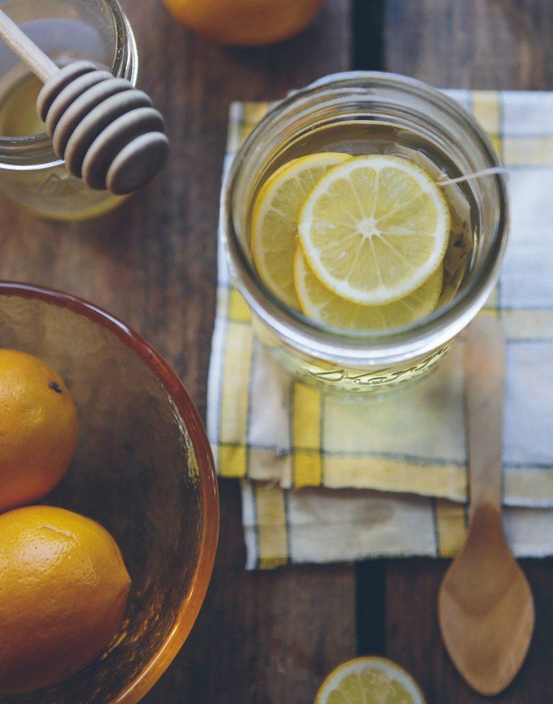 propolis dans une infusion au citron