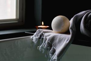 bombe de bain maison contre le rhume