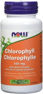 chlorophylle en capsules avec luzerne