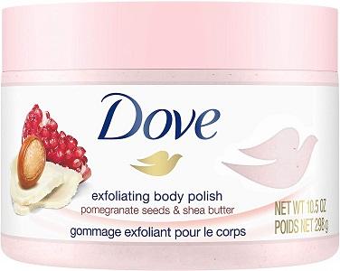 exfoliant pour le corps à base de grenade de Dove