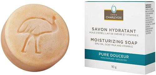 savon hydratant à base d'huile d'émeu d'Emeu Charlevoix