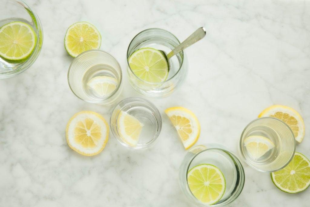 limonade maison citron vert et citron jaune